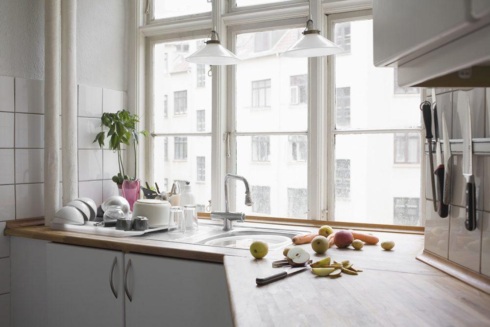 plumbing in kitchen